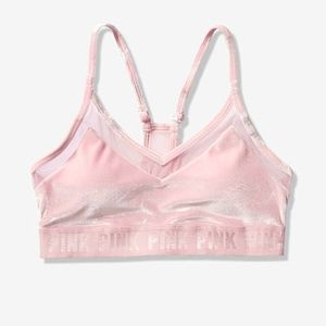 VS PINK Ultimate Lightly Lined VELVET Sports Bra